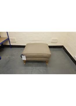 Ex-display Bluebell herringbone pigeon fabric footstool