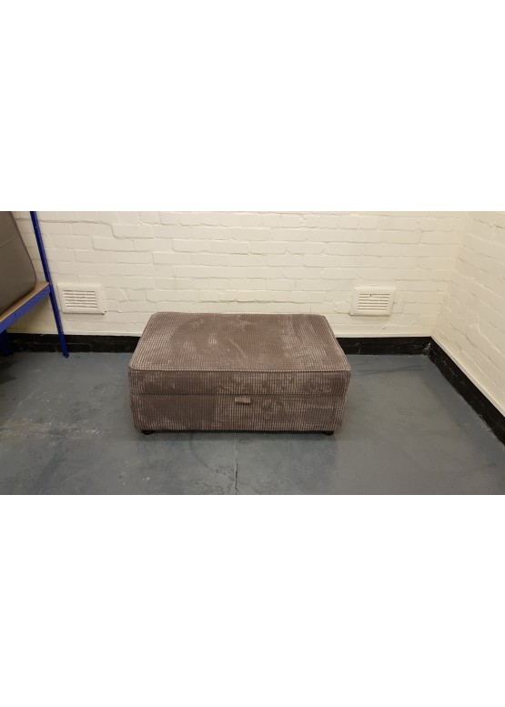 Ex-display light brown large storage footstool