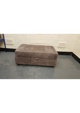 Ex-display light brown large storage footstool