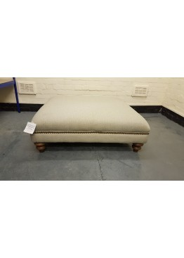 Ex-display DFS Ranch natural plain fabric large footstool