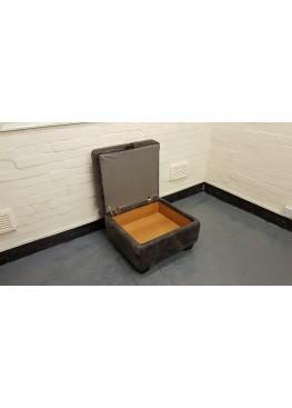Ex-display DFS Moro brown leather storage footstool